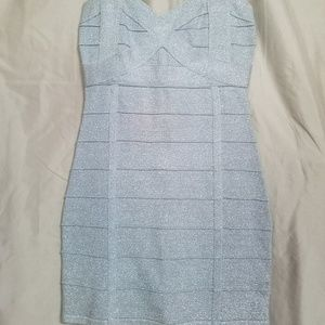 Forever 21 silver strap cocktail dress